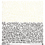 BasicGrey - Cappella Collection - 12 x 12 Alphabet Stickers, CLEARANCE
