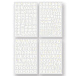 BasicGrey - Cappella Collection - Adhesive Chipboard - Alphabet, CLEARANCE