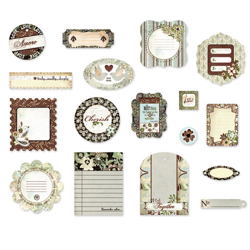 BasicGrey - Cappella Collection - Die Cut Cardstock Pieces