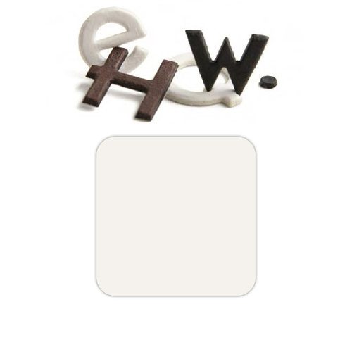 Basic Grey - Chocolate Chip - Self Adhesive Chipboard Alphabets - Piper - White Chocolate