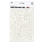 BasicGrey - Chocolate Chip - Self Adhesive Chipboard Alphabets - Delilah - White, CLEARANCE