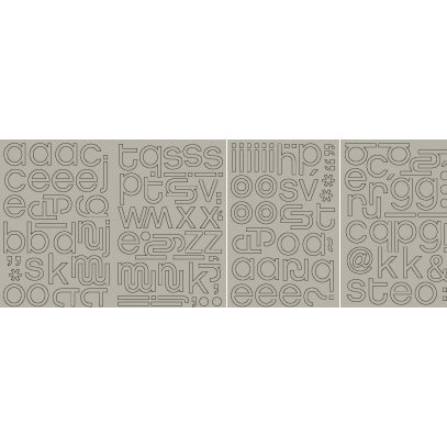BasicGrey - Mini Monograms Chipboard  - Obscure - Hip