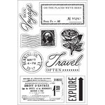 Hero Arts - BasicGrey - South Pacific Collection - Clear Acrylic Stamps - Bon Voyage