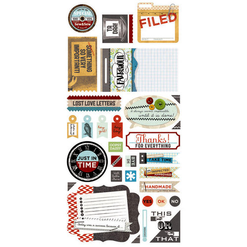 BasicGrey - Clippings Collection - Cardstock Stickers - Titles