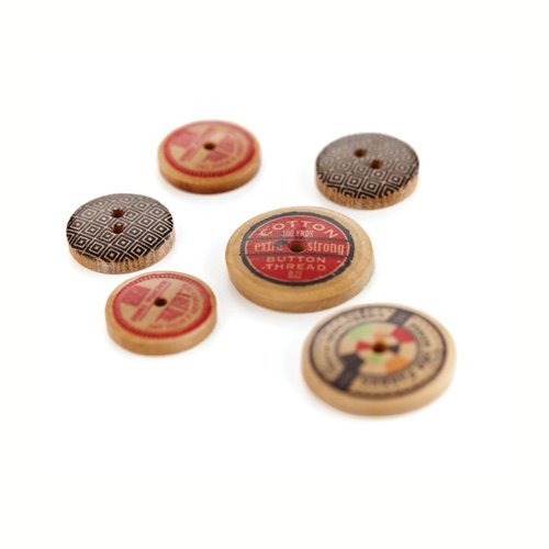 BasicGrey - Clippings Collection - Wooden Buttons