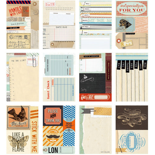 BasicGrey - Clippings Collection - Journaling Cards - Snippets