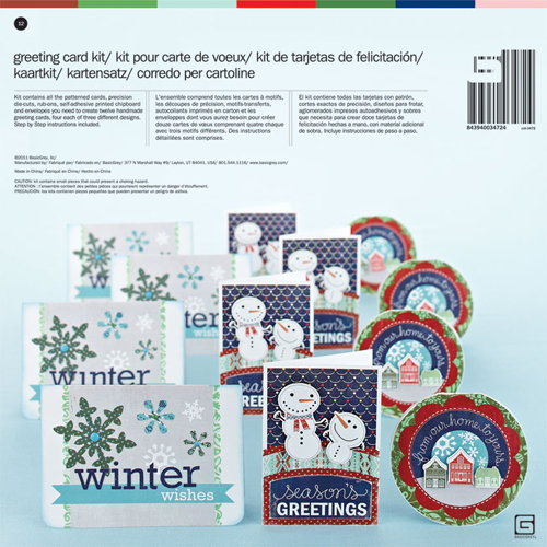 BasicGrey - Nordic Holiday Collection - Christmas - Card Kit