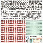 BasicGrey - Carte Postale Collection - 12 x 12 Alphabet Stickers