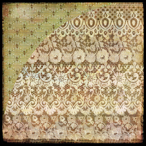 BasicGrey - Curio Collection - 12 x 12 Double Sided Paper - Needle Lace