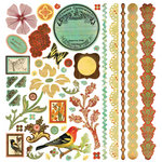 BasicGrey - Curio Collection - 12 x 12 Element Stickers - Shapes