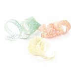 BasicGrey - Curio Collection - Doilies - Self Adhesive Ribbon, BRAND NEW