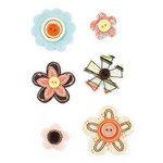 BasicGrey - Curio Collection - Bloomers - Fabric Flowers