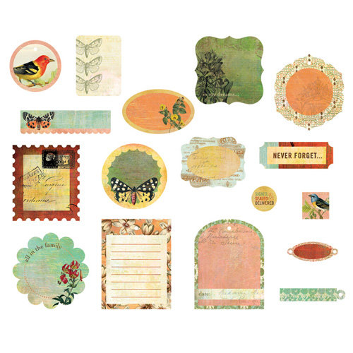 BasicGrey - Curio Collection - Die Cut Cardstock Pieces