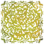 BasicGrey - Eerie Collection - Halloween - Doilies - 12 x 12 Die Cut Paper - Green, CLEARANCE