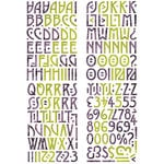 BasicGrey - Eerie Collection - Halloween - Adhesive Chipboard - Alphabet, CLEARANCE