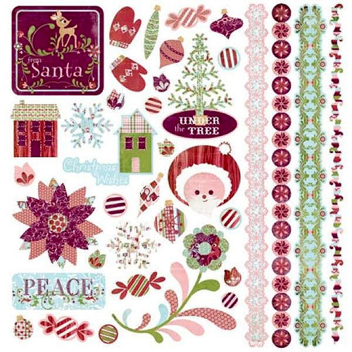 BasicGrey - Eskimo Kisses Collection - Christmas - 12 x 12 Element Stickers - Shapes
