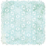 BasicGrey - Eskimo Kisses Collection - Christmas - Doilies - 12 x 12 Die Cut Paper - Blue, CLEARANCE