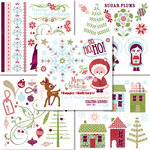 BasicGrey - Eskimo Kisses Collection - Christmas - Rub On Book - Olio , CLEARANCE