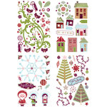 BasicGrey - Eskimo Kisses Collection - Christmas - Adhesive Chipboard - Shapes
