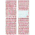 BasicGrey - Eskimo Kisses Collection - Christmas - Adhesive Chipboard - Alphabet