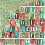 BasicGrey - Evergreen Collection - Christmas - 12 x 12 Double Sided Paper - Holly Jolly
