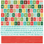 BasicGrey - Evergreen Collection - Christmas - 12 x 12 Cardstock Stickers - Alphabet