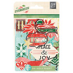 BasicGrey - Evergreen Collection - Christmas - Die Cut Cardstock and Transparency Pieces