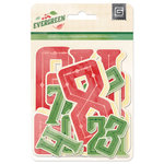 BasicGrey - Evergreen Collection - Christmas - Jumbo Die Cut Numbers