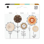 BasicGrey - Notions Collection - Vintage Heirloom Buttons - Marmalade Assorted