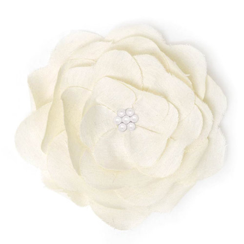 BasicGrey - Notions Collection - Fabric Flowers - Delightful Blossom - Linen
