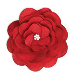 BasicGrey - Notions Collection - Fabric Flowers - Delightful Blossom - Crimson