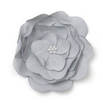 BasicGrey - Notions Collection - Fabric Flowers - Delightful Blossom - Onyx