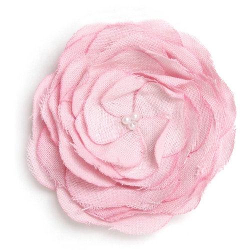 BasicGrey - Notions Collection - Fabric Flowers - Delicious Blossom - Carnation