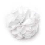 BasicGrey - Notions Collection - Fabric Flowers - Bounce Blossom - Blanc