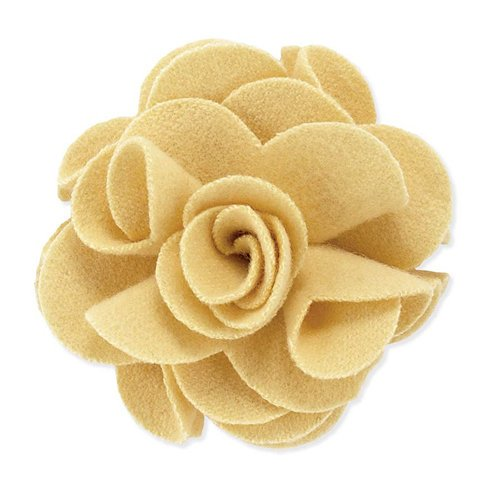 BasicGrey - Notions Collection - Wool Felt Flowers - Polished Blossom - Buttercup