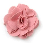 BasicGrey - Notions Collection - Wool Felt Flowers - Polished Blossom - Blush