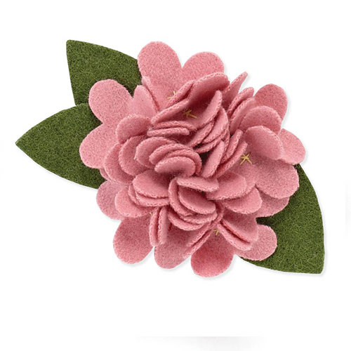 BasicGrey - Notions Collection - Wool Felt Flowers - Burst Blossom - Blush