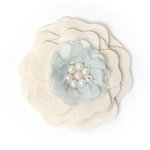 BasicGrey - Notions Collection - Wool Felt Flowers - Flutter Blossom - Linen
