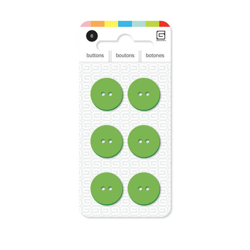 BasicGrey - Notions Collection - Yummy Buttons - Small Resin Buttons - Grass
