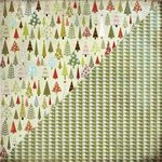 BasicGrey - Figgy Pudding Collection - 12x12 Double Sided Paper - Forest