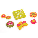 BasicGrey - Green at Heart Collection - Gummies - Rubber Stickers, CLEARANCE