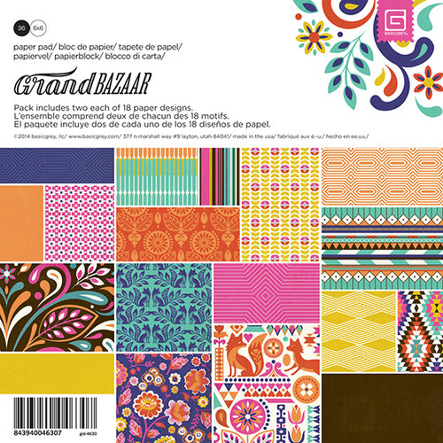 BasicGrey - Grand Bazaar Collection - 6 x 6 Paper Pad