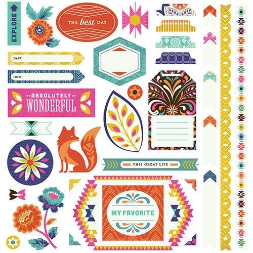 BasicGrey - Grand Bazaar Collection - 12 x 12 Cardstock Stickers - Elements