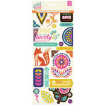 BasicGrey - Grand Bazaar Collection - Printed Chipboard Stickers - Shapes