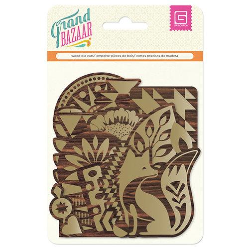 BasicGrey - Grand Bazaar Collection - Wood Die Cuts - Gold
