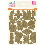 BasicGrey - Grand Bazaar Collection - Embossed Foil Die Cuts - Gold