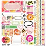 BasicGrey - Highline Collection - 12 x 12 Cardstock Stickers - Elements