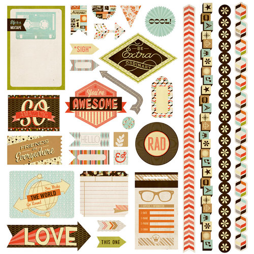 BasicGrey - Hipster Collection - 12 x 12 Element Stickers