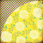 BasicGrey - Hello Luscious Collection - 12 x 12 Double Sided Paper - Lemon Zest