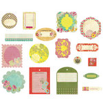 BasicGrey - Hello Luscious Collection - Die Cut Cardstock Pieces